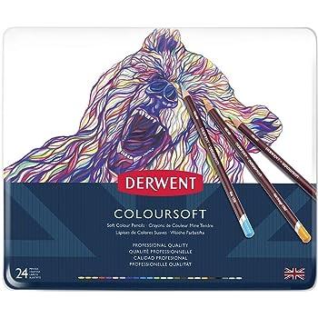 4mm Core 24 Count Derwent Colorsoft Pencils 2300153 Wooden Box