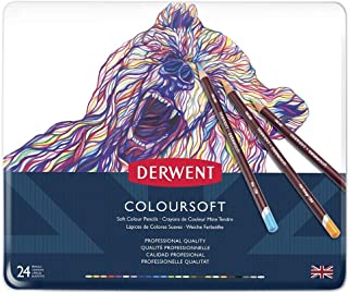 DERWENT(R) 701027 COLOURSOFT Pencils, TIN of 24