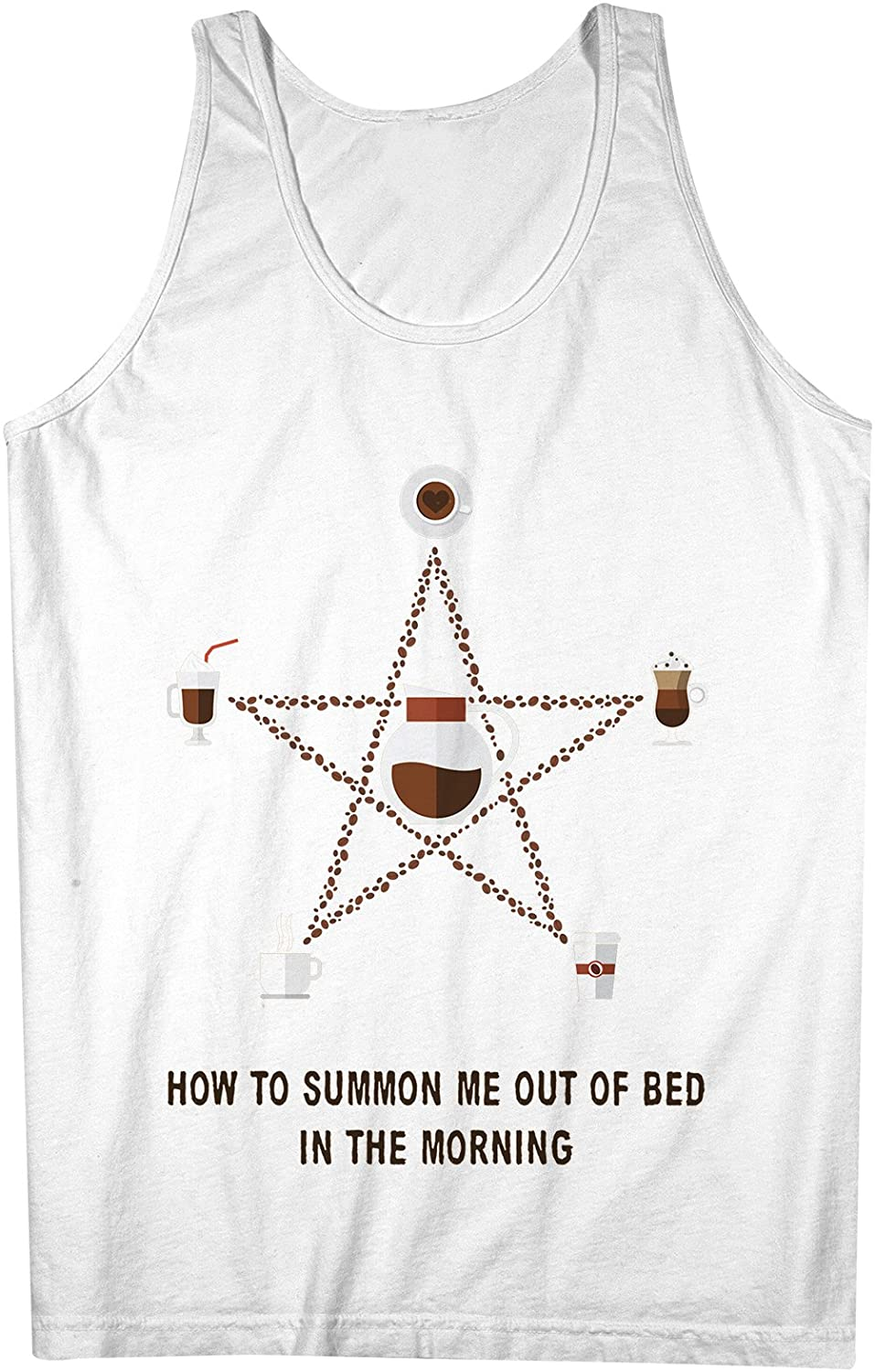 How To Summon Me Out Of Bed In The Morning おかしいです Coffee 男性用 Tank Top Sleeveless Shirt
