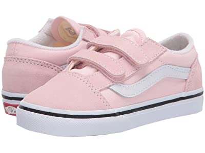 Vans Kids Old Skool V (Infant/Toddler) (Blushing/Classic White) Girls Shoes