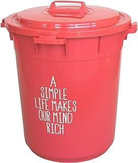平和工業 ゴミ箱 カラーペール 45L 丸型 ナチュラルレッド