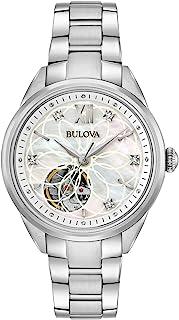 Bulova - Reloj Analógico para Mujer de Automático con Correa en Acero Inoxidable 96P181