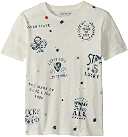 Lucky Brand Kids - Paint Splatter Short Sleeve Tee (Big Kids)