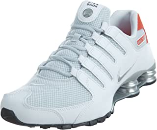 3e54eccfa8 Nike Shox NZ Se Men's Shoes White/Max Orange/Black/Metallic Silver 833579