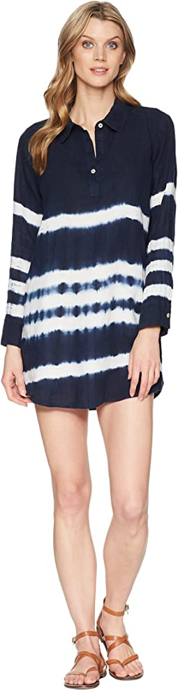 Allen Allen - 3/4 Sleeve Tie-Dye Dress
