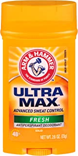 Arm & Hammer Ultramax Invisible Solid Fresh Antiperspirant Deodorant For Men, 2.6 oz