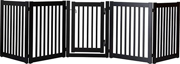 """product image for Dynamic Accents Amish Craftsman Highlander Series Solid Wood Pet Gates are Handcrafted 32"""" High - 5 Panel Walk Through/Black"""