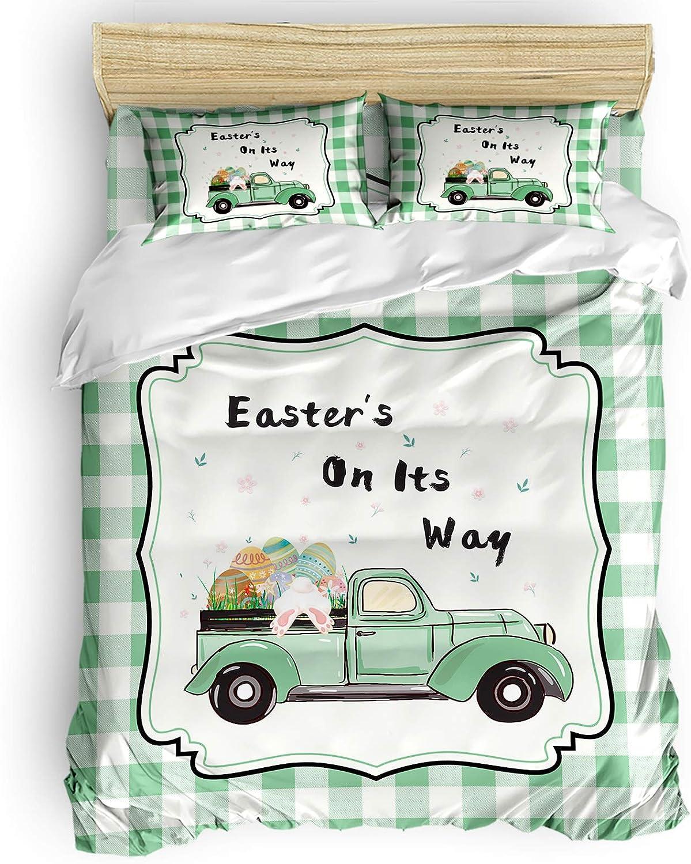 IDOWMAT Comforter Cover Set Deluxe Full Easter Boston Mall Truck Duvet wi
