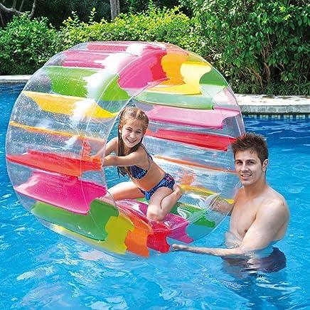 Todaytop Rueda de Rodillos Inflable niños Multiusos Rueda de Rodillos de Agua para césped Engrosamiento de PVC Roller Ball Juguete Entre Padres e Hijos?100cm*65cm*60cm?