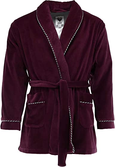 Image result for Ascentix Men's Velour Smoking Jacket with Satin Lining
