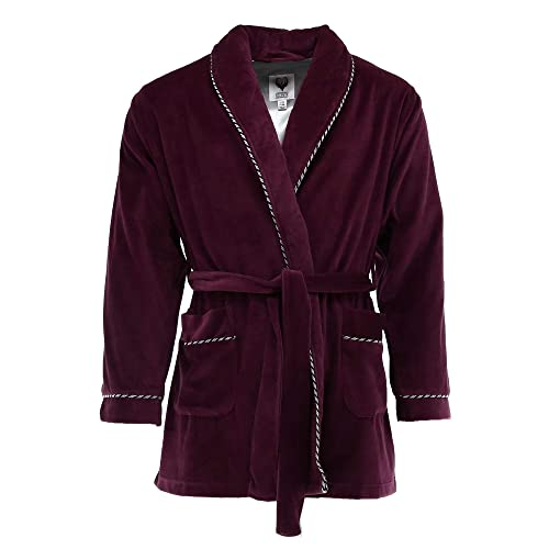 ed51313b3a9 Ascentix Men s Velour Smoking Jacket with Satin Lining