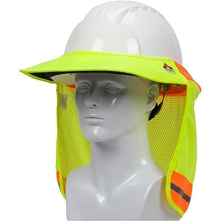 FX SAFETY HARD HAT NECK SHIELD HELMET SUN SHADE HI VIS REFLECTIVE STRIPE