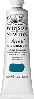 Winsor & Newton 1214526, Phthalo Turquoise Artists' Oil Colour Paint, 37ml Tube, 37-ml