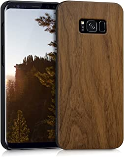 kwmobile Samsung Galaxy S8 Plus Wood Case - Non-Slip Natural Solid Hard Wooden Protective Cover for Samsung Galaxy S8 Plus
