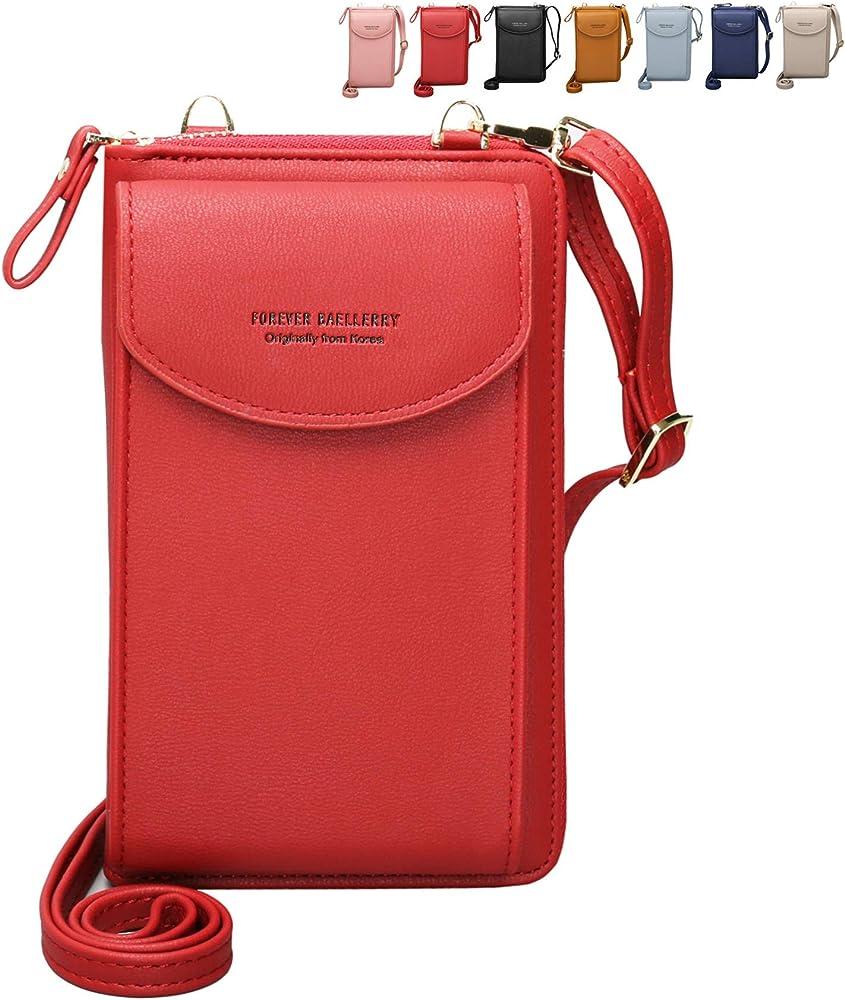 Charltu portafoglio borsetta porta cellulare a tracolla per donna ITRRP05