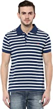 AMERICAN CREW Men's Striped Regular fit Polo