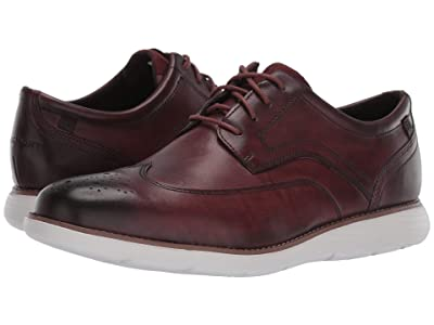 Rockport Garett Wing Tip (Burgundy Leather) Men