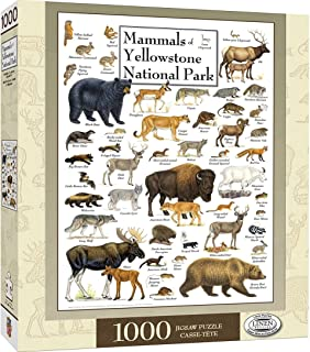 Masterpieces Poster Art Mammals of Yellowstone National Park 1000 Pieces Puzzle