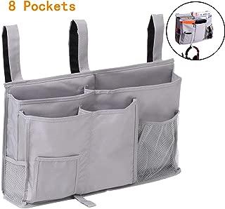 Bedside Caddy Bed Caddy Storage Organizer Hanging Bag for Hospital Bed Bunk Desk Office Car Backrest Dorm Bed Rails Baby Bed Baby Cart 8 Pockets Grey