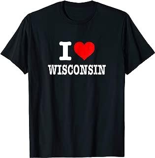 I Love Wisconsin T-Shirt - I Heart Wisconsin Shirt