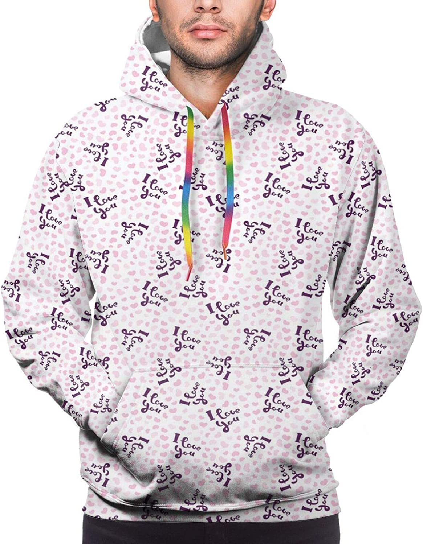 Men's Hoodies Sweatshirts,Childish Sweet Fresh Summer with Hand Drawn Style Slices