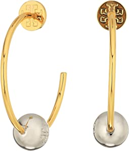 Tory Burch - Logo Loop Hoop Earrings