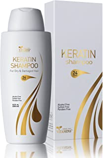Sponsored Ad - Vitamins Keratin Shampoo Hair Treatment - Protein and Argan Oil for Curly Wavy and Straight Hair - Sulfate ...