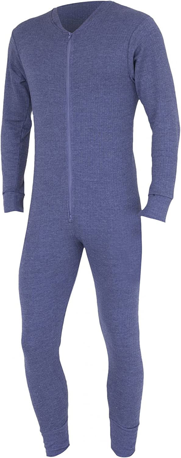 Floso Mens Thermal Underwear All in One Union Suit