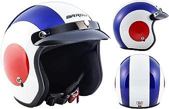ARMOR Helmets AV-47 Casco Moto Demi Jet, DOT certificado, Bolsa de transporte, Multicolor/Retro, S (55-56cm)