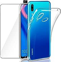 Leathlux Funda Huawei P Smart Z + Protector de Pantalla Huawei P Smart Z, Suave Transparente Silicona Protectora TPU Gel Fina Carcasa para Huawei P Smart Z/Huawei Y9 Prime 2019