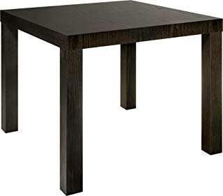 DHP Parsons Modern End Table, Multi-use and Toolless Assembly, Dark Espresso