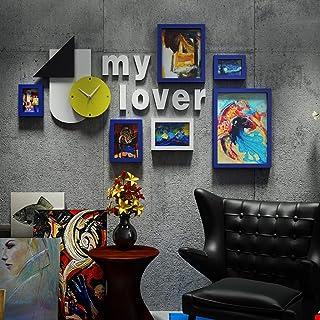 Marco de Fotos Pared Grande multipantalla Marco de Fotos Creativo de la Sala de Estar Escalera sofá Fondo Pared 7 Marco co...