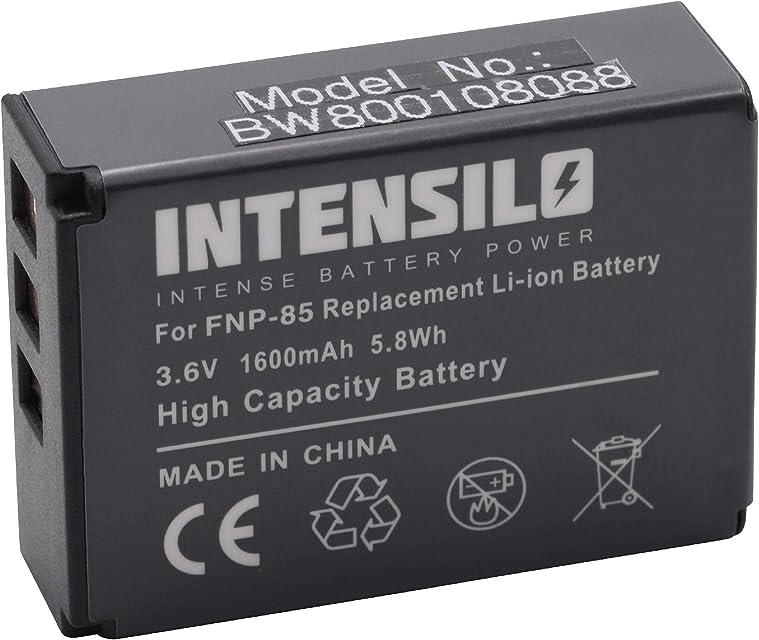 INTENSILO batería Li-Ion 1600mAh (3.6V) para cámara Fujifilm Finepix F305 SL1000 SL240 SL260 SL280 y NP-85 CB170 PA3985.