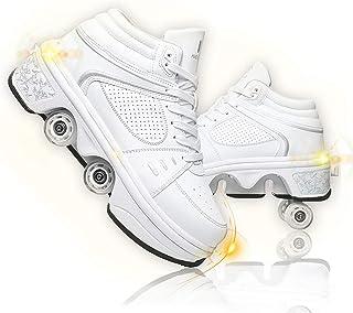 Roue Chaussures À roulettes Chaussures De Skate À roulettes Patins À roulettes Fille Et Garçon Entraînement Roller Skate B...