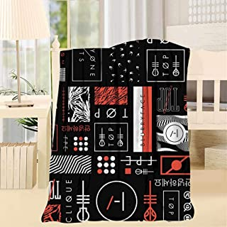 Throws Blankets 21 Blurry-Face Pilot Microfiber Blanket Decorative Warm Soft Plush Cozy Blankets for Chair/Bed/Couch/Sofa