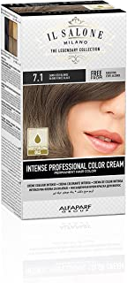 Il Salone Milano Professional Permanent Color Kit - 7.1 Dark Iced Blonde - 100% Gray Coverage Hair Dye - Paraffin Free - Ethyl Alcohol Free - Moisturizing Oils