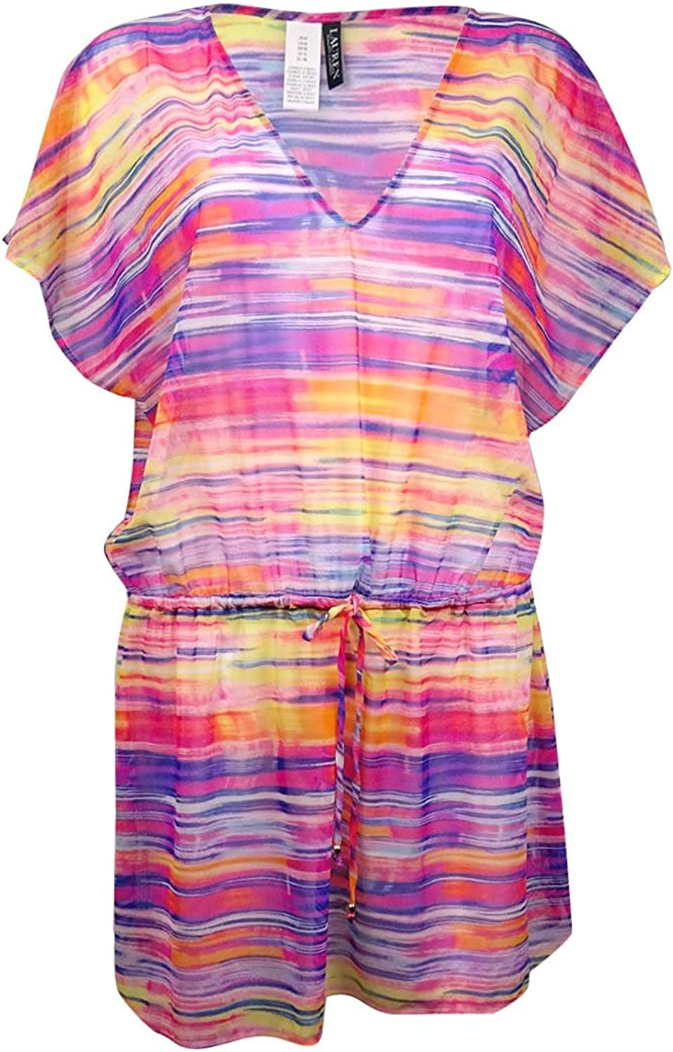 Lauren Ralph Lauren Womens Summer TieDye Poolside Tunic CoverUp