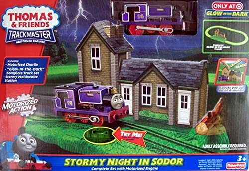 Thomas and Friends Glow in the Dark Stormy Night in Sodor Complete Set with Motorized Engine by Thomas & Friends Trackmaster