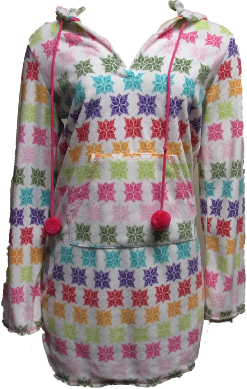 Jenni by Long Beach Mall Jennifer Moore Hooded Snowflake Small Robe Multicolor New popularity