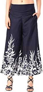 Fraulein Women's/Girls Palazzos Border Print Soft Crepe Flared Bottom Trendy and Stylish Palazzos with One Pocket and Mesh...