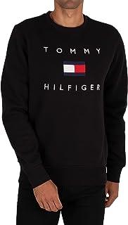 Tommy Hilfiger Men's Flag Sweatshirt, Black