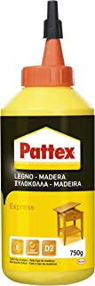 Pattex Pegamento express para madera, resistente al agua y