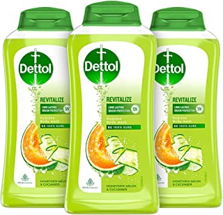 Dettol Body Wash and Shower Gel, Revitalize - 250ml Each (Pack of 3)
