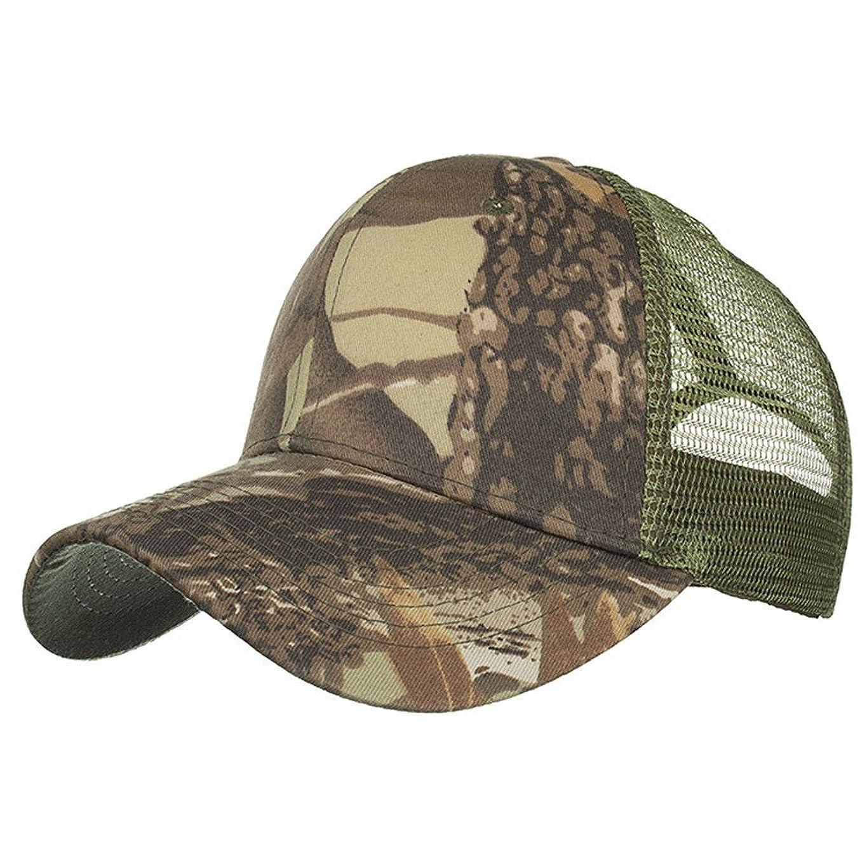北方雪の近傍Racazing Cap 迷彩 野球帽 メッシュステッチ 通気性のある 帽子 夏 登山 可調整可能 刺繍 棒球帽 UV 帽子 軽量 屋外 Unisex Hat (C)