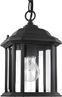 Sea Gull Lighting 60029-12 Kent 1-Light Outdoor Semi-Flush Convertible Pendant in Black