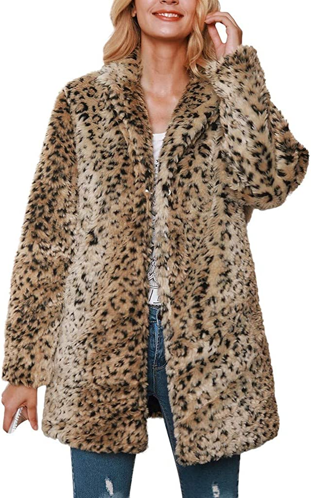 NREALY Chaqueta Womens Winter Warm Spl Hooded Very Ranking TOP8 popular Leopard Coat Thick