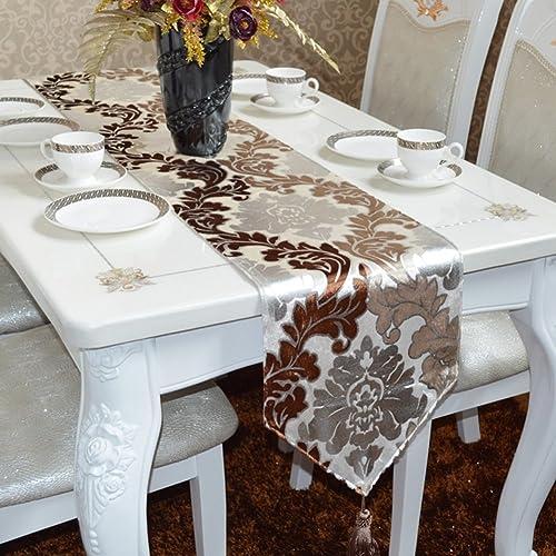 100% precio garantizado JIANFEI caminos de mesa Dos Dos Dos Colors de plata caliente impresión Colorido Exquisito borla, 4 tamaños opcionales ( Tamaño   30220cm )  Venta en línea de descuento de fábrica