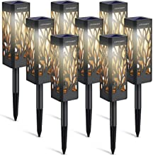 URPOWER Solar Lights Outdoor Upgraded Solar Pathway Lights with Bigger Solar Panel & Longer Working Time IP65 Waterproof Solar Garden Lights for Landscape Lawn Patio Path Driveway (Warm White 8 Pack)