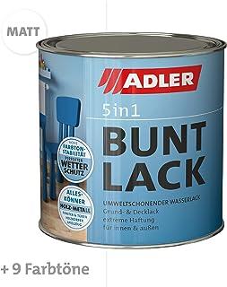 ADLER 5in1 Buntlack für Innen und Außen - Matt - 125 ml - Wetterfester Lack und Grundierung für Holz, Metall & Kunststoff, RAL9016 Verkehrsweiß