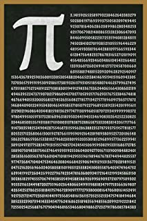 Mathematical Number PI to 1801 Decimals Greek Letter Math Classroom Science Laminated Dry Erase Sign Poster 12x18